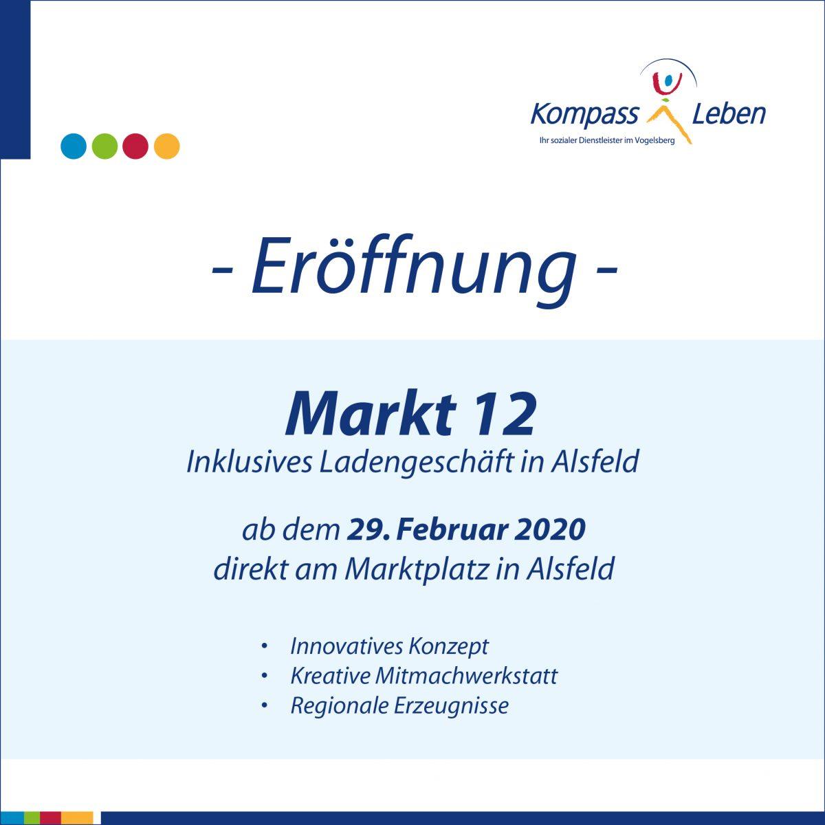 Eröffnung Markt 12 am 29.02.2020